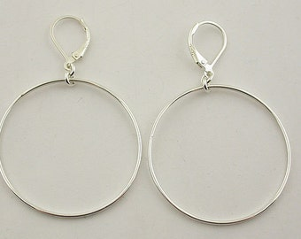 Sterling Silver Leverback Earrings 26