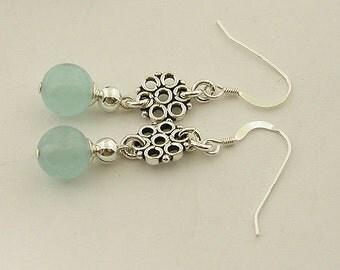 Aquamarine Jade Sterling Silver Earrings 03