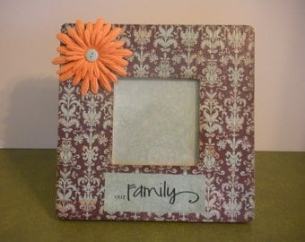 3.5 x 3.5 Picture Frames Our family / Ready To Ship