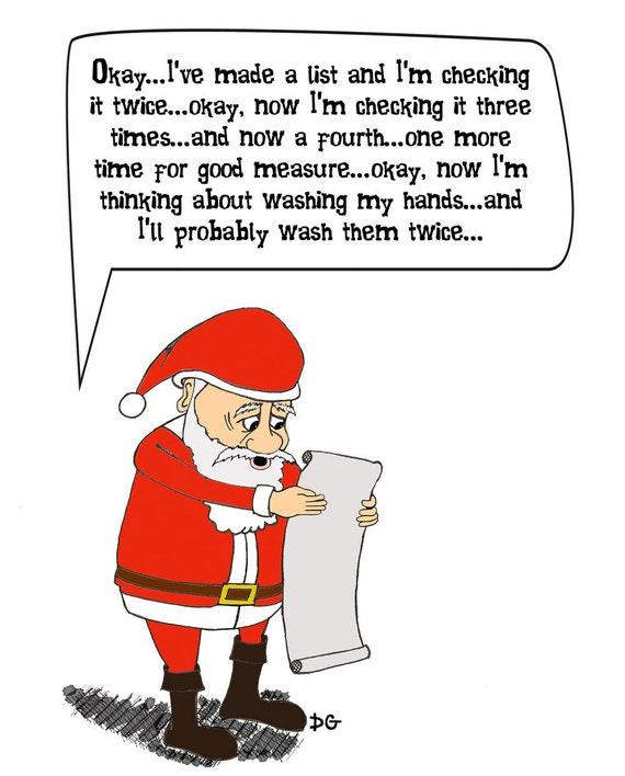 If Santa Claus Had OCD - Holiday Greeting Card