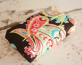 Tissue Cover- Colorful Brown Paisley