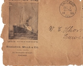 1899 letter from S.S. New England steam ship for change of sailing date