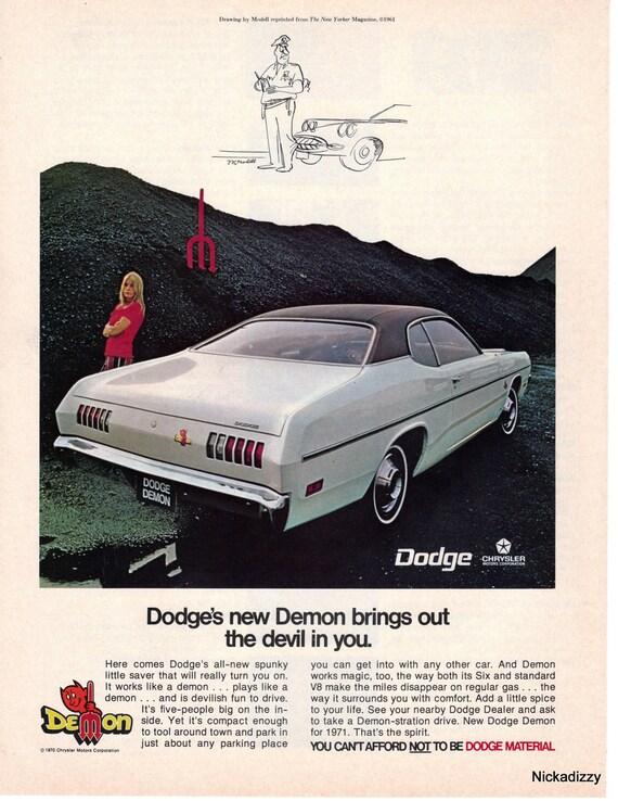 1971 dodge demon car full page color advertisement. Black Bedroom Furniture Sets. Home Design Ideas