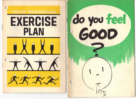 Exercise and Health pamphlets from the 60s - Scriptographic goodness