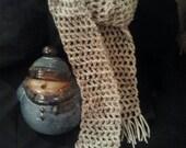 Oatmeal crochet scarf