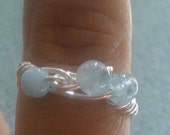 Aquamarine Gemstone wire wrapped ring