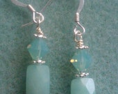 Amazonite and Pacific Opal Earrings