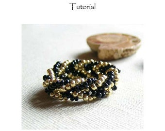 Golden Ring  beadwoven tutorial