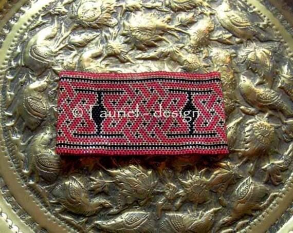 Pattern, peyote bracelet, Celtic Knot