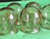 Lot of  2 Vintage Medical  clear Jars - Cups - Vials from 60s, medical supplies