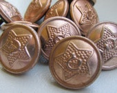 Lot of 10 Vintage metal Buttons from soviet military uniform for steampunk supplies, clothing supplies