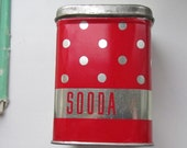 Soviet Vintage small Metal tin  Box - food storage