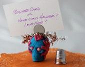 """Mini Sugar Skull Memo Clip """"Blue Boy"""""""