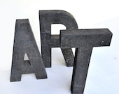 RESERVED FOR ANNA  typography vintage sign letter A R T all three sign letters offered by Elizabeth Rosen