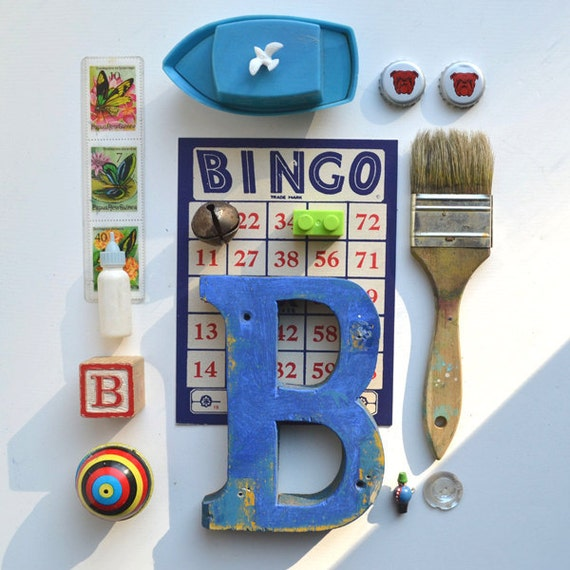 Sign Letter B is for boy shadow box themed instant collection vintage toys and more  offered by Elizabeth Rosen