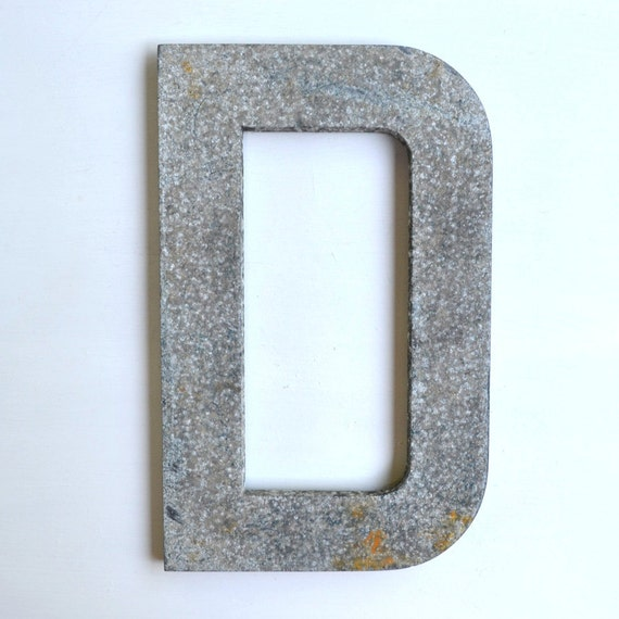 "vintage sign letter typography, BIG 16"" sign letter D letter iron offered by Elizabeth Rosen"