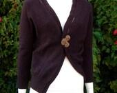 100% Cashmere Dark Brown Cardigan from Vintage Cashmere by Koi Suwannagate