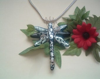 Dichroic Fused Glass Dragonfly
