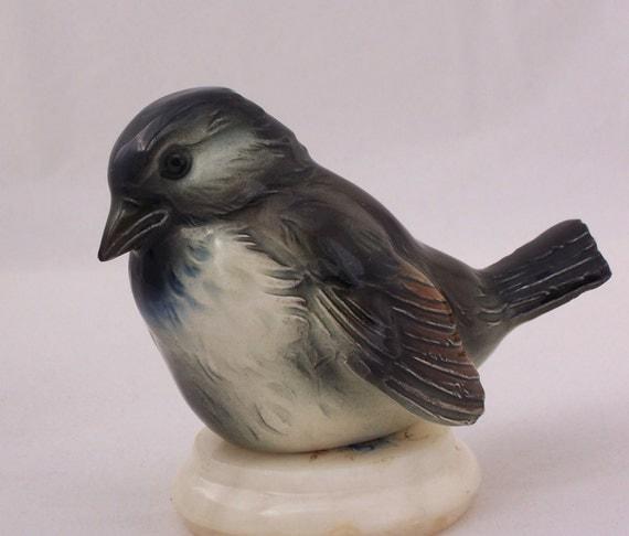 Vintage Goebel Porcelain  Bird Figurine CV73 Sparrow, Very desirable figurine, 1960s