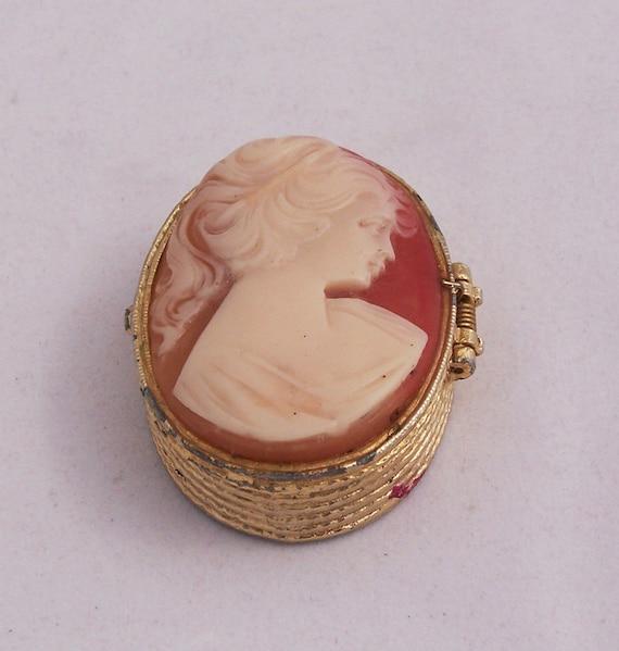 Vintage Cameo Box, Cameo Tiny Trinket/Jewelry box, UK Seller