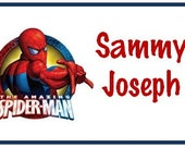 Personalized SPIDERMAN Bag Tag for Luggage, Backpack, Lunch Kit, Diaper Bag and more...