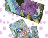 Appliqued and Beaded Flower Wallet PDF Pattern- Bella