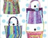Four Bags from 1 Pattern and 1 Jelly Roll - Bali Bags, Cool Cat Creations