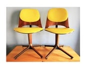 RESERVED - Plycraft Swivel Desk Chairs - Mid Century Modern - RESERVED