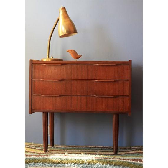 RESERVED FOR ASA3P --- Danish Modern Side Table - Mini Dresser