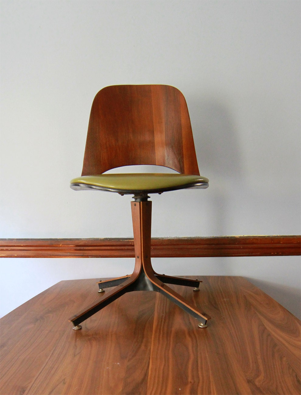 Plycraft Swivel Desk Chair Mid Century Modern