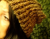 Super Soft Sleepy Brown Beanie Knit Hat Slouchy Knitted Hat :) On Sale & Free US Shipping