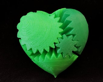 Nerdy Fun 3D Printed Desk Toy Rotating Gear Heart