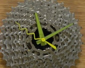 Upcycled  Bicycle Cassette Wall Clock