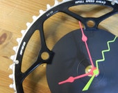 Upcycled FSA Chain Ring Bicycle Wall Clock Fully Customizable