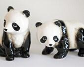 Vintage Porcelain Panda Bear Pair....Marked Japan