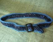 Crocheted belt.