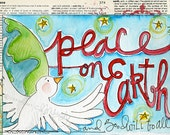 Peace On Earth by CD Muckosky- Christmas postcards, set of 10