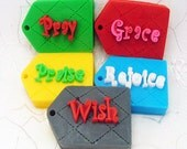 Silicone Handmade Soap Mold with 5 Tags with Words for Baby Soaps - 325g