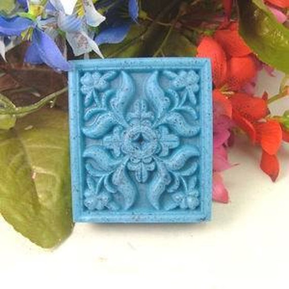 3D Silicone handmade soap mould/mold with sqaure cake n flower 80g chocolate mould candy mold bread mould