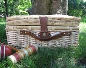 Well Appointed Picnic Basket Vintage Unused