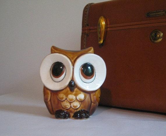 Ceramic Owl Shaped Coin Piggy Bank