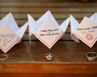 Cootie Catchers/Fortune Tellers Printable/Digital Item for Weddings or Parties AS SEEN ON Once Wed Custom wedding programs