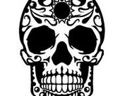 "Day of the Dead / Sugar Skull - Wall Art Vinyl Decal - DOTD04   11.8""w x 18""h"