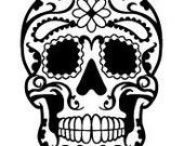 "Day of the Dead / Sugar Skull - Wall Art Vinyl Decal - DOTD05   11.2""w x 16""h"