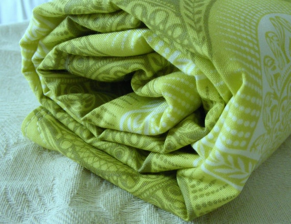 Organic Fleece Baby Bedding-Spring Green- Infant Toddler Blanket Quilt