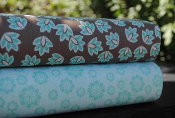 Emily Taylor Design for Riley Blake, Verona, 2 Yard Bundle, gray and teal