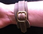 Light Brown Leather Wrap Bracelet