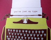 Funny Valentine card  - You're just my type - order code HL13L