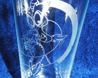 My Little Pony Discord Etched Pint Glass