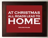 Red Christmas Home print poster